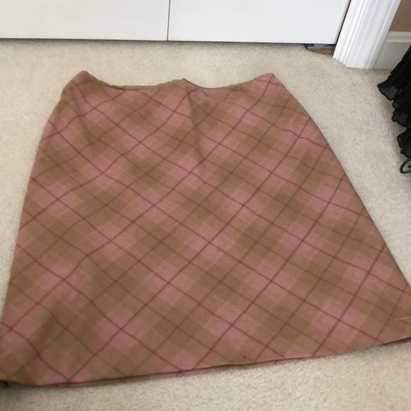 LOFT Dresses & Skirts - LOFT argyle print lined camel & pink skirt